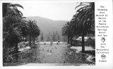 The Swimming Pool Heated by Nature at the Famous Arrowhead Springs Hotel and Spa near San Bernardino