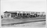 "Big Blue Baker Service Station ""Dad"" Fairbanks Baker, California"