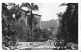 Pershing Square Showing Biltmore Hotel, Los Angeles, California