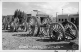 Wheels of Old 20 Mule Team Borax Wagons, Death Valley Jct. California