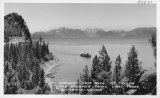 Highway - Cave Rock - Mt. Tallac and Steamer Tahoe, Lake Tahoe, California - Nevada