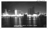 Long Beach, California, at Night from Rainbow Pier