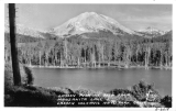 Lassen Peak as seen from Manzanita Lake, Lassen Volcanic Natl Park, California