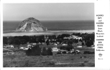 Morro Bay and Morro Rock from Black Mountain Lookout Morro Bay State Park California
