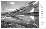 Mid-summer melting Snow forms Summit Lake on Haines Cut-off Alaska
