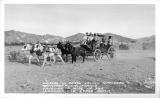 Visitors in Death Valley National Monument, California Enjoying a RIde in the Historic Old Stage Coach