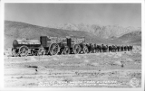 20 Mule Team Wagon Tain Entering Death Valley From Wingate Pass, California