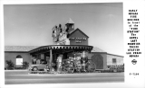 "Early Nevada Fire Engines in front of the ""Fire Station"" The Hotel Last Frontier Texaco Station Las Vegas"