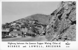 Highway between the famous Copper Mining Cities of Bisbee and Lowell, Arizona