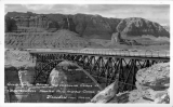Grand Canyon Bridge and Vermillion Cliffs at Buck Lowrey's Trading Post, Marble Canyon, Arizona