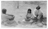 Hopi Pottery Makers Walapi, Indian Village, Arizona