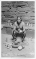 Hopi Indian Chief Tewaquaptewa Making Katchina Dolls Oraibi, Arizona