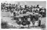 Teseque Indians dressed for Buffalo Dance New Mexico