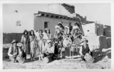 "Indian Dancers at Acoma, ""The Sky City"", New Mexico"