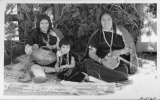 Hopi Indians, Basker Maker and Decorating Pottery, Arizona