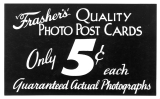 """Frasher's"" Quality Photo Post Cards"