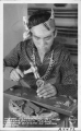 Indian Silversmith Alfredo Herrera (Cochiti Pueblo) Stamping Designs on Indian Jewelry