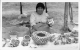 Mrs. Johnson, Acoma Indian Pottery Maker