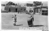 "Jose Reyes Tofoya and Little ""Eye-Ay"" (Bow), Santa Clara Pueblo Indian Dancers"