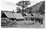 Chow Line - County 1818 CCC Camp Victorio, Apache Creek, New Mexico