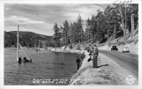Fishing On The Shores Of Big Bear Lake, California