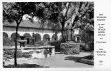 San Fernando Mission Father Serra Statue and Fountain San Fernando California