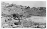 Tome Reed - Mill and Tailing Pile Other Mines in the Disance Along U.S. 66 - at Oatman, Arizona