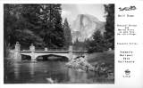 Half Dome Sentinel Bridge and Merced River as seen from the Old Village Yosemite Valley Yosemite National