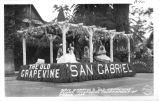 "San Gabriel's ""Old Grapevine"" Float, Pasadena Tournament of Roses, 1939"