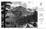 Mt. Tallac and Cascade Lake from the Scenic Highway near Emerald Bay, Lake Tahoe California