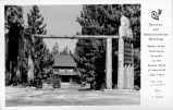 Gateway and Administration Building, Zephyr Point Conference Grounds on the Nevada Shore of Beautiful