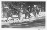 """A Snow Fight"" at Big Pines Los Angeles County Recreation Camp, California"